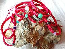 Náramky - Červené ochranné náramky - 10022899_