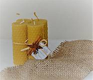 Svietidlá a sviečky - Sviečkové sety z točených sviečok - 10023390_