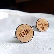 Šperky - Manžetové gombičky pre ženícha - 10021176_