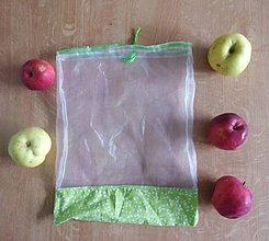 Úžitkový textil - Nákupné vrecúško zelený lístok - 10023531_