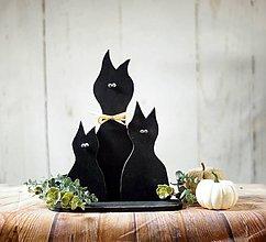 Dekorácie - Halloween mačky - 10024170_