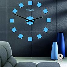 Hodiny - Veľké hodiny na stenu XXL-STYLESA 12P036 PLEXISKLO (Bordová) - 10020978_
