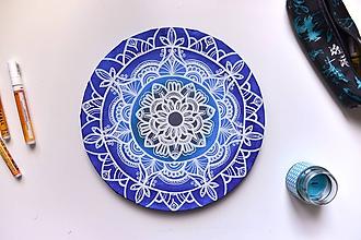Obrazy - Mandala na kruhovom plátne (sky) - 10023986_
