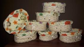 Košíky - Košík na chlieb a pečivo z pedigu - 10020612_