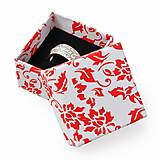 - Papierová krabička - prsteň/náušnice - 10024654_