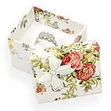 - Papierová krabička - prsteň/náušnice - 10024775_