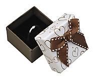 - Papierová krabička - prsteň/náušnice - 10024788_