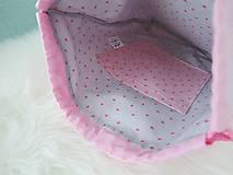 Detské tašky - Ružový batôžtek - dievčatko so zajačikom - 10023274_
