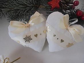 Dekorácie - Vianočná ozdoba-srdiečko - 10020774_