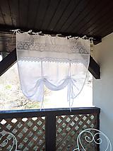 - Ľanová záclonka Charming Cottage (135x105 cm) - 10021932_
