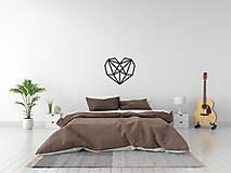Dekorácie - Kovová geometrická nástenka / dekorácia HEART - 10025377_
