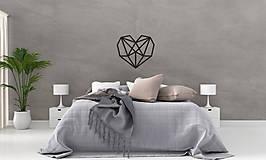 Dekorácie - Kovová geometrická nástenka / dekorácia HEART - 10025379_