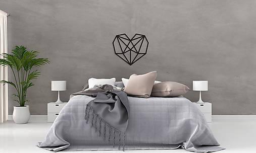 Kovová geometrická nástenka / dekorácia HEART
