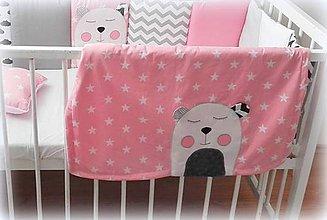 Textil - Letná deka Teddy, viac farieb 70x90cm - 10026369_