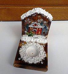 Svietidlá a sviečky - Zasnežený domček - 10027578_