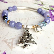 Náramky - CHRISTMAS EDITION Elastic Angelite Bracelet / Elastický náramok angelit, vianočná edícia /1079 - 10027792_