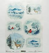 - Ryžový papier na decoupage -A4-R1485 - Vianoce, sýkorka - 10025864_