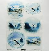 - Ryžový papier na decoupage -A4-R1486 - Vianoce, jeleň - 10025947_