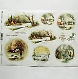 - Ryžový papier na decoupage -A4-R1272- Vianoce, krajinka - 10026226_