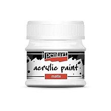 Farby-laky - Akrylová farba matná, 50 ml, Pentart (titánová biela) - 10025709_