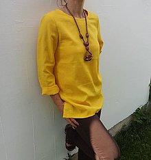 Tuniky - Žltý ľan - 10027490_