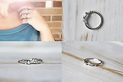 Prstene - Strieborný ligotavý prsteň - Bokeh Mini - 10025343_