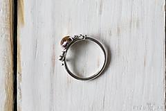 Prstene - Strieborný ligotavý prsteň s citrínom - Bokeh Citri - 10025707_