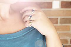 Prstene - Strieborný ligotavý prsteň s citrínom - Bokeh Citri - 10025708_