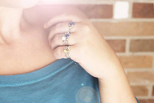Strieborný ligotavý prsteň - Bokeh Mini