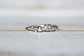 Prstene - Strieborný ligotavý prsteň - Bokeh Mini - 10025337_