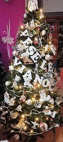 Dekorácie - Girlanda Veselé Vianoce - 10027033_