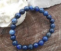 Náramky - lapis lazuli-fazetovaný - 10028582_