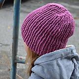 Detské čiapky - detská čiapka malinová - 10025459_