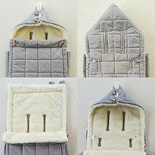 Textil - RUNO SHOP fusak pre deti do kočíka 100% ovčie runo MERINO TOP super wash do úzkych vaničiek a autosedačky Grey šedá - 10027274_