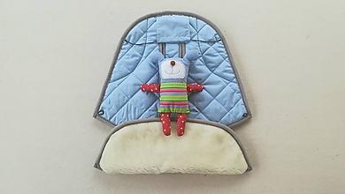 Textil - Podložka / poťah do kočíka STOKKE  Summer and Winter 100% ovčie rúno MERINO ELEGANT Blue - 10027493_