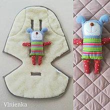 Textil - Podložka / poťah do kočíka STOKKE  Summer and Winter 100% ovčie rúno MERINO ELEGANT DUSTY PINK - 10027543_