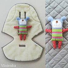 Textil - Podložka / poťah do kočíka STOKKE  Summer and Winter 100% ovčie rúno MERINO ELEGANT GREY ŠEDÁ - 10027765_