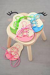 Šnurovacia topánka - prírodná - na jemnú motoriku a mašličky