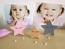 Detské doplnky - Stojan na fotku HVIEZDY (hviezdy 3 ks) - 10025260_