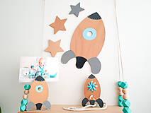 Detské doplnky - Stojan na fotografiu - Raketa - 10025405_