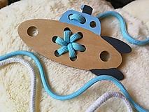 Hračky - Drevená ponorka - prevliekacia hračka - 10025504_