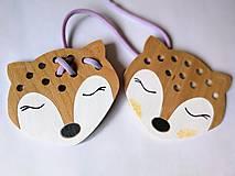 Hračky - Drevená líška mini - prevliekacia hračka - 10025613_