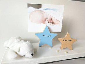 Detské doplnky - Stojan na fotku HVIEZDY (hviezda  1ks + 1 menšia) - 10025265_