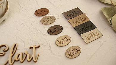 Drobnosti - Koženkové štítky na objednávku - 10025442_