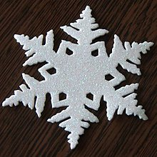 Materiál ručne robený - Snehová vločka veľká 13 cm - 10027072_