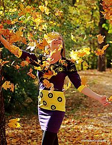 Šaty - Dámske šaty mini, šité, maľované KOMOREBI - 10025409_