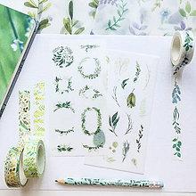 Papier - papierové nálepky Botanika I - 2 hárky - 10026063_