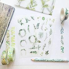 Papier - papierové nálepky Botanika II - 2 hárky - 10026119_