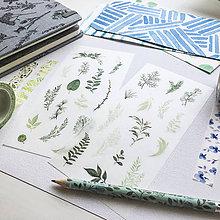 Papier - papierové nálepky Botanika III - 2 hárky - 10026520_
