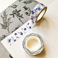Papier - dekoračná papierová páska Modré sirôtky - 10026558_
